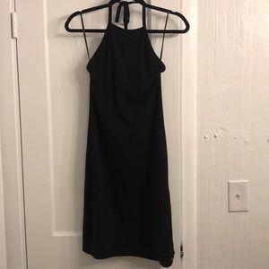 Black halter top tube dress